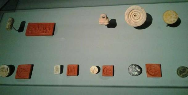 A collection of Dilmun seals, Bahrain National Museum.