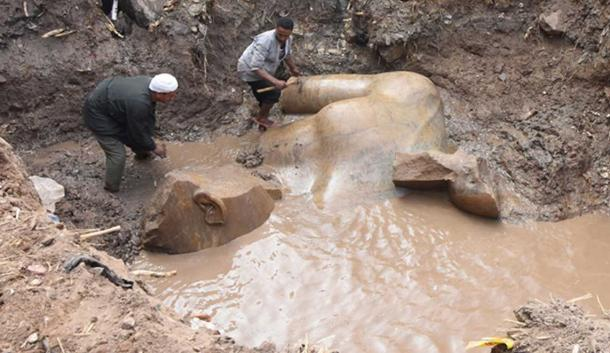 Archaeologists have unearthed fragments of a colossal statue possibly depicting Pharaoh Ramesses II.