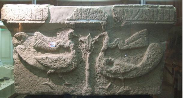 A column capital of a 7th-century Christian church with an inscription in Caucasian Albanian.