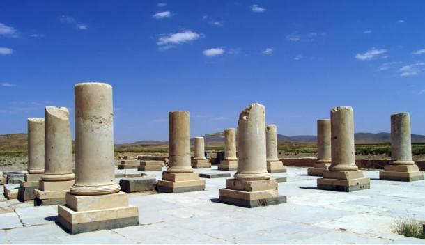 Remnants of columns at Pasargadae
