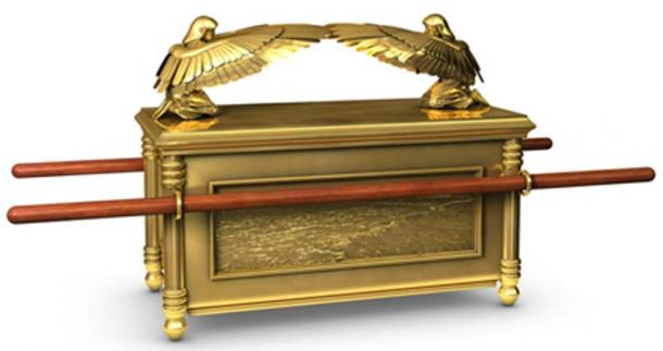 Figure 5.   A computer generated image of the Ark of the Covenant. This image conforms to the specifications and measurements given in the Book of Exodus.