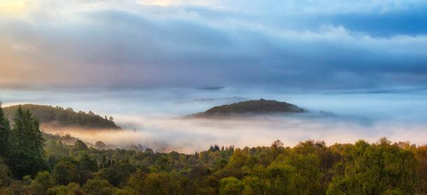 Just outside Aberfoyle is a strange conical hill known as the Fairy Knowe. According to legends, Reverend Kirk's soul is believed to still be kept captive in the Fairy Queen's Palace underneath the Knowe