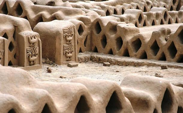 The amazing constructions of the Chimu capital city, Chan Chan.
