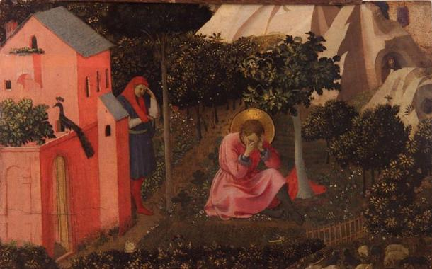 'La conversion de Saint Augustin.' (The conversion of Saint Augustine) (circa 1430-1435) by Fra Angelico.