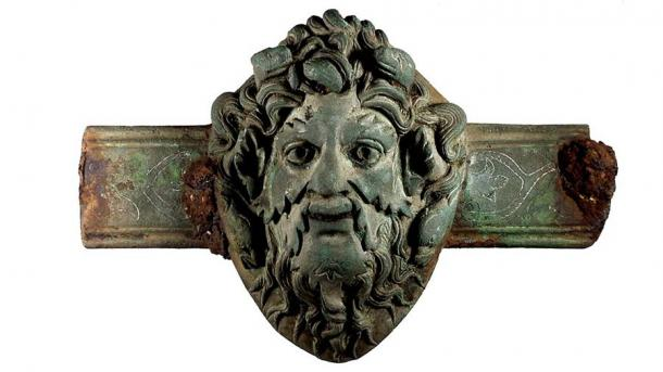 A copper alloy Roman furniture fitting with the face of the god Oceanus (British Museum)