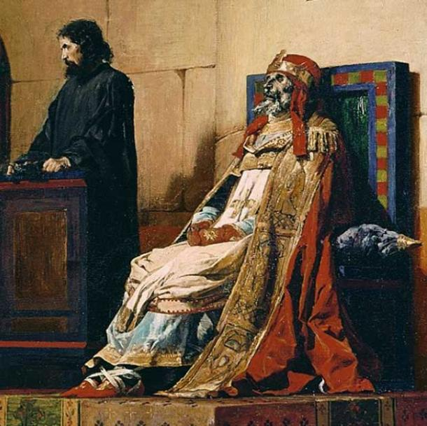 The corpse of Pope Formosus on trial.