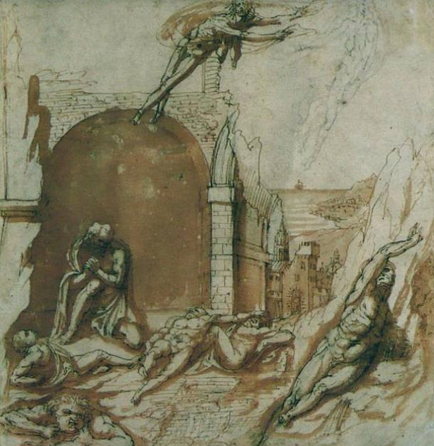 The count Ugolino and his children in prison, visited by hunger (16th Century) Pierino da Vinci