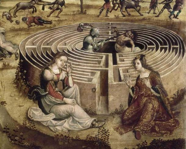 Daedalus is credited with the creation of the labyrinth of Crete, which held the ferocious Minotaur. 'The Cretan Legend'