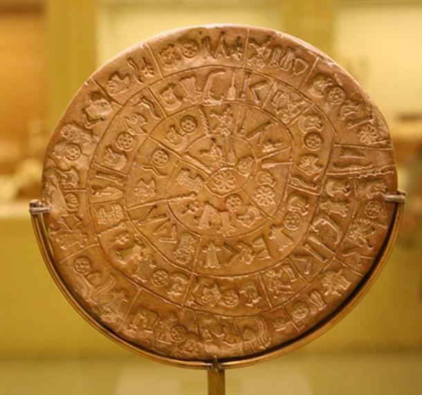 Crete - Phaistos disk containing Cretan Hieroglyphic