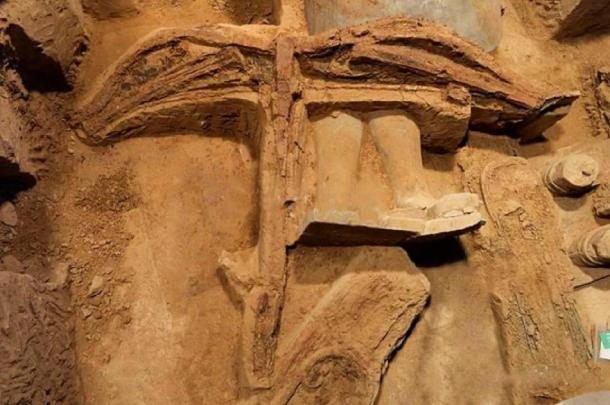 A cross bow unearthed among the warriors. Credit: Emperor Qin Shi Emperor's Mausoleum