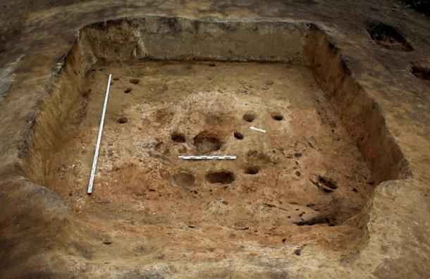 'This crypt was very large, and we spent two seasons excavating it.'