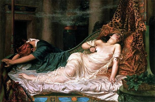 Death of Cleopatra by Reginald Arthur (1892) (Public Domain)