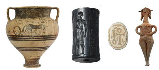 Numerous death cult objects have been uncovered at a mass burial site in Cypru