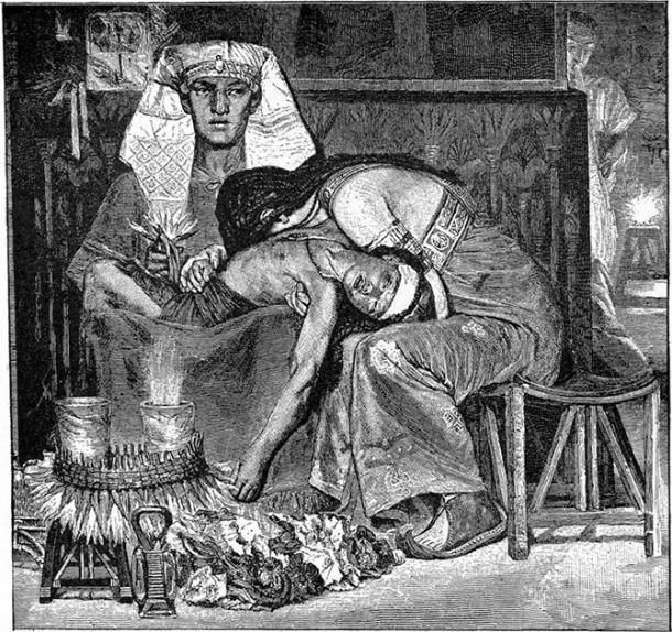 """""""The Death of the Firstborn"""" by Charles Foster, 1897, Illustration from the 1897 Bible Pictures and What They Teach Us: Containing 400 Illustrations from the Old and New Testaments: With brief descriptions by Charles Foster. (Public Domain)"""