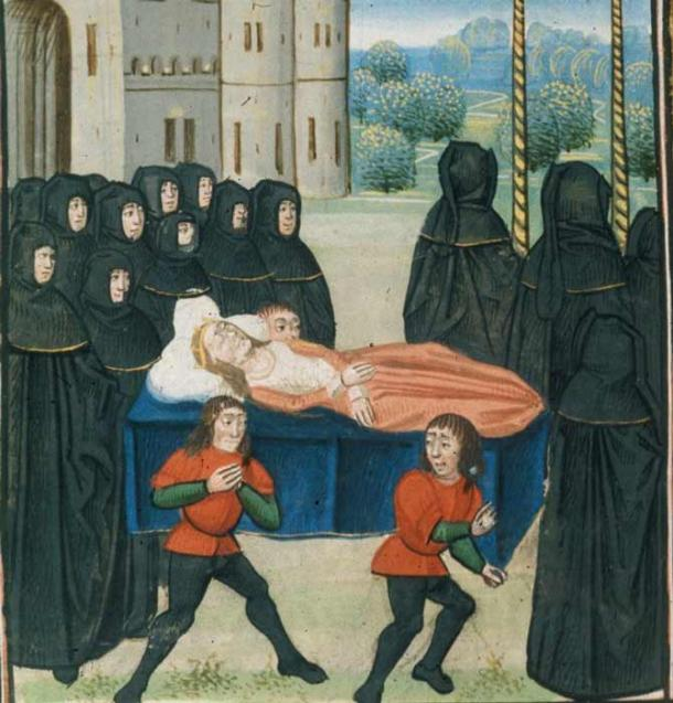 The death of Anne of Bohemia, known as Good Queen Anne. (Public domain)