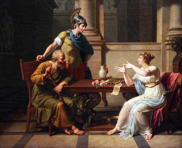 The debate of Socrates and Aspasia