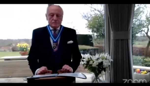 The declaration ceremony of Mr. Kerfoot as High Sheriff of North Yorkshire could not be held in York due to the pandemic. Source: YouTube Screenshot