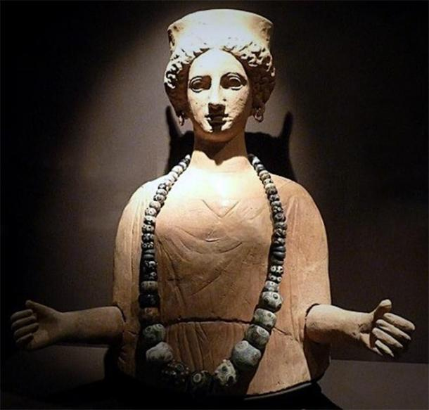 Ancient Carthaginian deity Tanit, Ibiza. (Provided by the author)