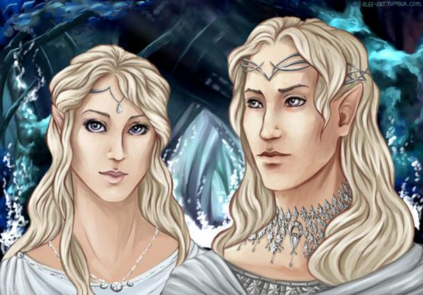 An artist's depiction of Middle-Earth elves