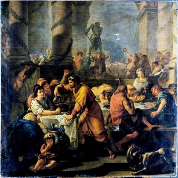 French painter Antoine Callet's 1783 depiction of Saturnalia.
