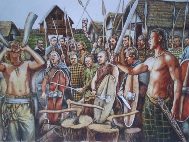 """Depiction of Iron Age Celts. (El Blog de """"Acebedo"""")"""