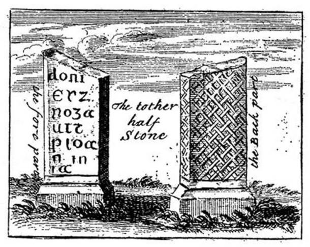 John Norden's depiction of the stones in 1650 (English Heritage)