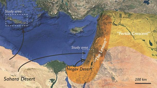 Dust deposits were sampled and studied from a number of areas in and around the Fertile Crescent. (The Geological Society of America)