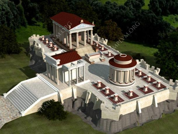 Digital plan for the development of the Iuppiter Perunus temple.
