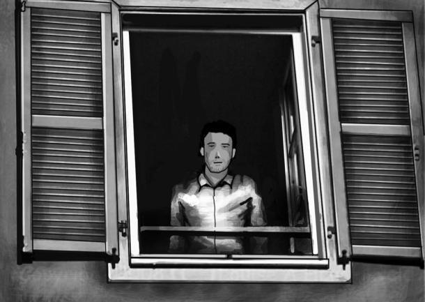 Dienach looking at the window