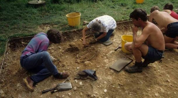 A dig was carried out in the 1980s after metal fragments and then bones were detected. Image generously provided by The Novium Musuem