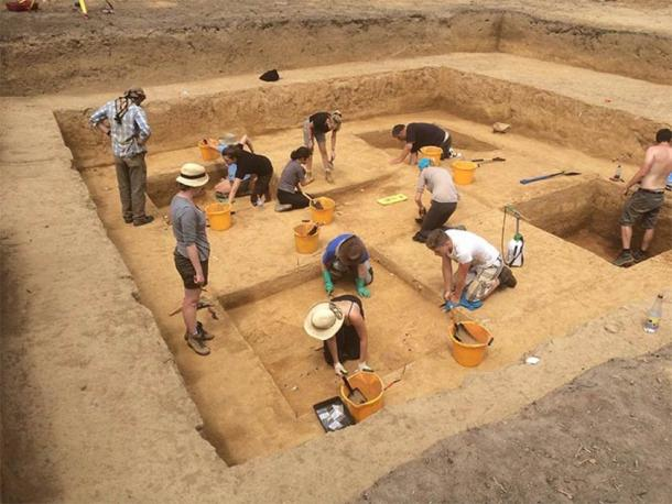 The dig site in Jersey where the Magdalenian stone slabs were found. (Natural History Museum)
