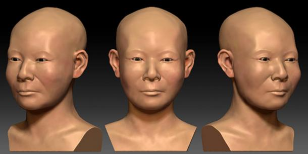 A digital reconstruction of the Korean women.