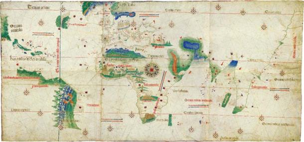 The Portuguese discovered numerous territories and routes during the 15th and 16th centuries. Cantino planisphere, made by an anonymous cartographer in 1502.