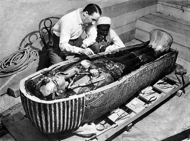 The tomb of Tutankhamen was discovered by archaeologist Howard Carter in 1922. The mummy of the famed pharaoh provided a wealth of information about the mummification process. (Public domain)