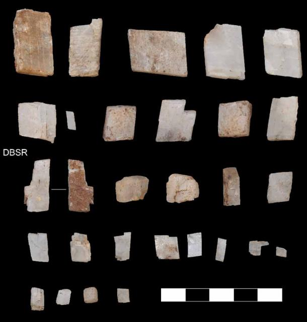 Crystals collected by early Homo sapiens in the southern Kalahari 105,000 years ago. (Credit: Jayne Wilkins)