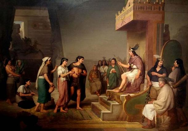 'The discovery of pulque' by nineteenth-century Mexican painter José Obregón