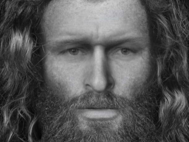 Откриването на забележително добре запазени останки в Шотландия позволи на археолозите да пресъздадат лицето на пиктик, жестоко убит преди около 2600 години.  (Кристофър Рин / Университет в Дънди)
