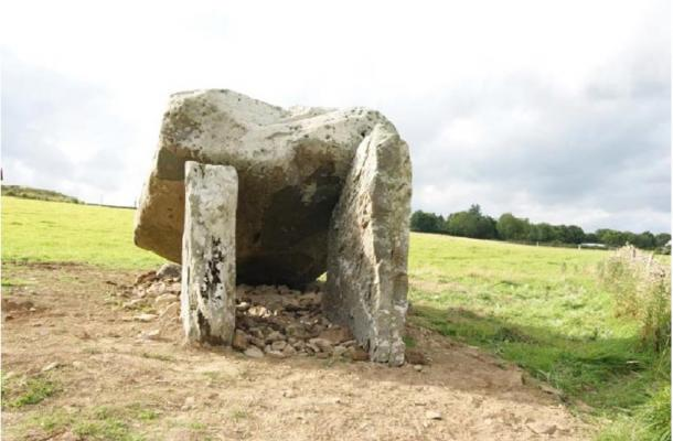 The dolmen after it was conserved and placed back together