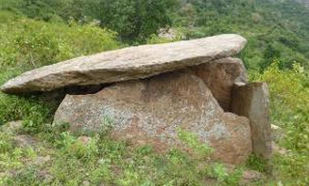 One of the dolmens found in Tamil Nadu
