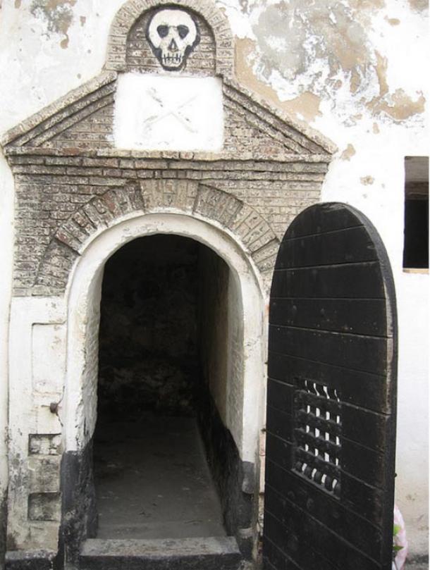 A haunting door leading onto the courtyard, Elmina Castle, Ghana