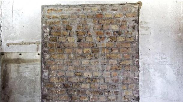 Part of the doorway, that was bricked up, found in the secret passage in the UK Parliament. (Jessica Taylor / UK Parliament).