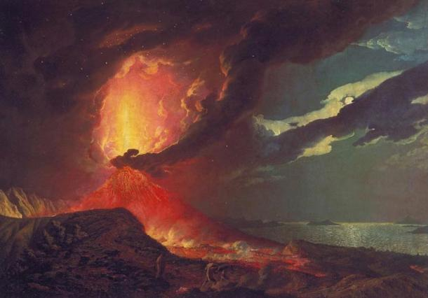 The dramatic eruption of Mt Vesuvius came earlier than the Late Antique Little Ice Age, in 79 AD.