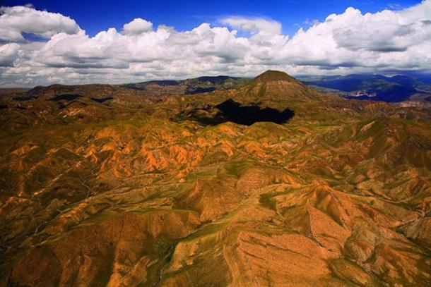 The dramatic volcanic landscape of the Gegham Mountains, Armenia