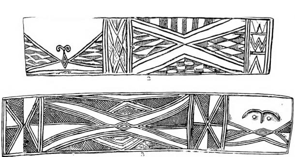 A British Museum drawing of the decorations on one of the drums