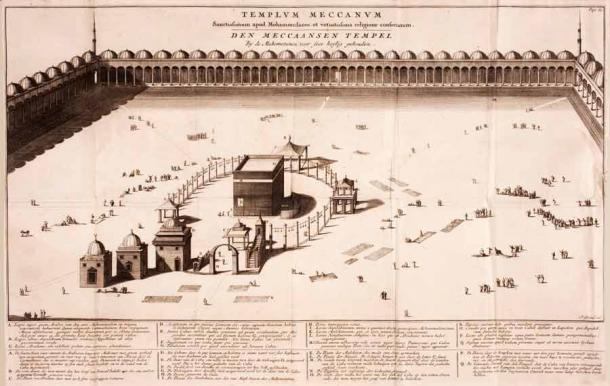 An old drawing of the Ka'bah in Mecca. (Peace Palace Library / Public domain)
