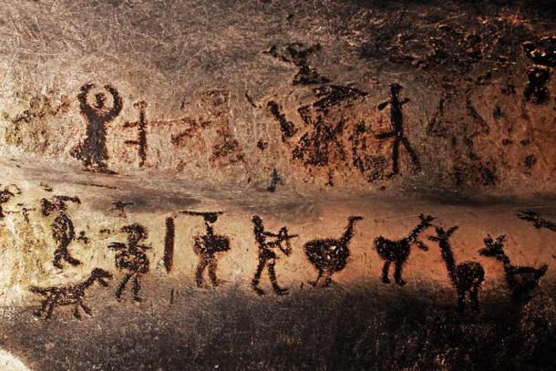 "Were these prehistoric mural drawings in the Magura cave, Bulgaria made by subterranean artists that were ""high"" due to a lack of sufficient oxygen? (MEDIAIMAG / Adobe Stock)"