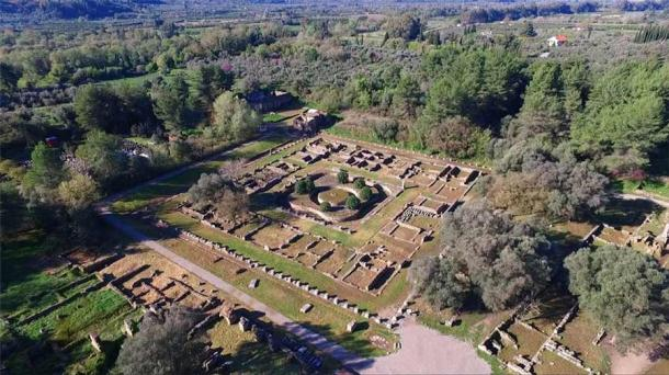Aerial drone photo of the enthralling ruins of ancient Olympia, birthplace of the Olympic Games. ( aerial-drone / Adobe Stock )