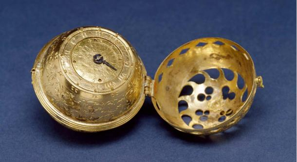 """This is the earliest dated watch known. It is engraved on the bottom: Philip Melanchthon, to God alone the glory, 1530. There are very few watches existing today that predate 1550; only two dated examples are known--this one from 1530 and another from 1548. The perforations in the case permitted one to see the time without opening the watch."""