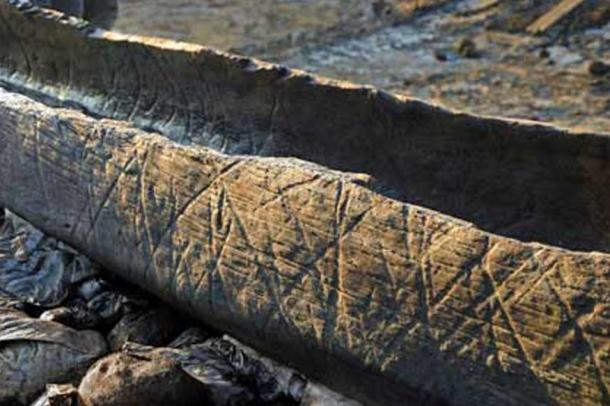 An early Bronze Age log boat was found in 2011 in the ancient channel of a river.