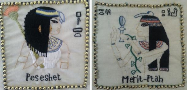(Left) Peseshet, (Right) Merit Ptah